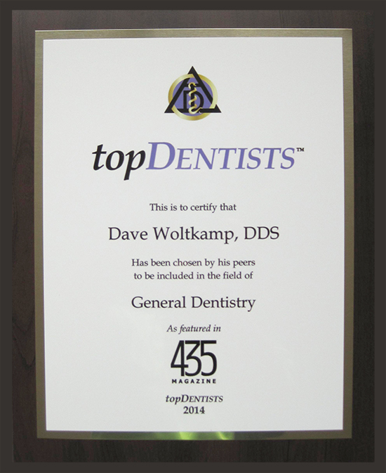 Dr. Woltkamp - 435 Magazine Top Dentists